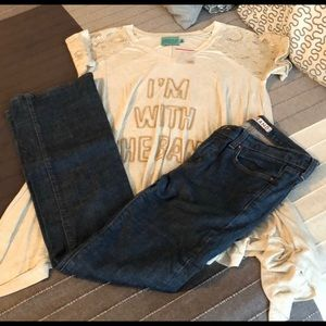 JBRAND low rise straight jeans size 28 dark wash